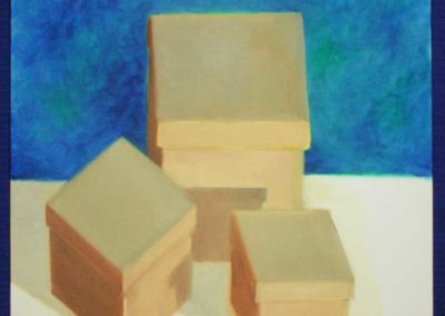 "Oil Study, ""Three Boxes"""
