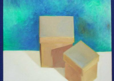 "Oil Study, ""Two Boxes"""